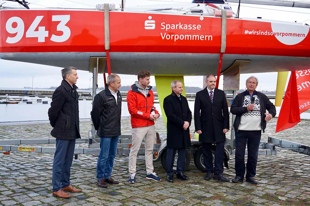 Bootstaufe Vorpommern mit Sponsoren und Unterstützern